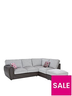 moreno-faux-snakeskin-and-fabric-right-hand-corner-chaise-standard-back-sofa-footstool