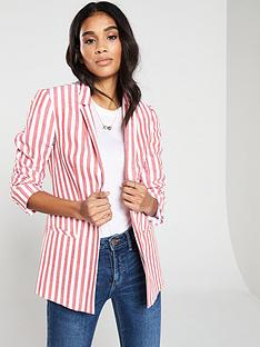 ab132a6c441e0 V by Very Stripe Linen Blazer