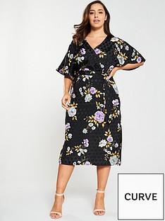 v-by-very-curve-jacquard-printed-midi-dress-multi