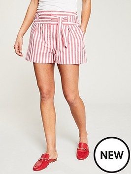 01ca9f1a2e V by Very Stripe Linen Shorts