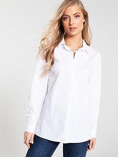 37aaff7ddb6cc V by Very Longline Shirt - White