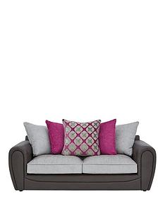 moreno-faux-snakeskin-and-fabric-3-seater-scatter-back-sofa