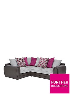 moreno-faux-snakeskin-and-fabric-left-hand-corner-chaise-scatter-back-sofa