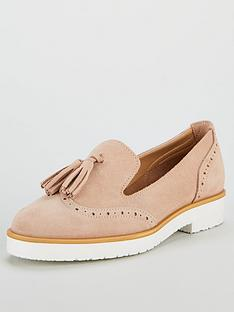 07e8f5b2ef56e4 V by Very Megan Real Suede Tassel Loafer