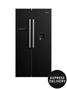 swan-sr70110b-90cm-american-style-double-door-frost-free-fridge-freezer-with-water-dispenser-blacknbspwith-express-delivery