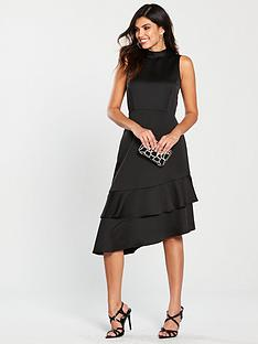 warehouse-tie-back-ruffle-midi-dress