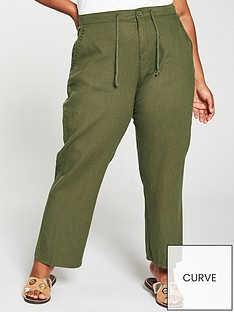 v-by-very-curve-curve-linen-mix-drawcord-trousers-khaki
