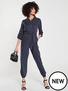 16e3d168f1e V by Very Denim Look Jumpsuit - Navy