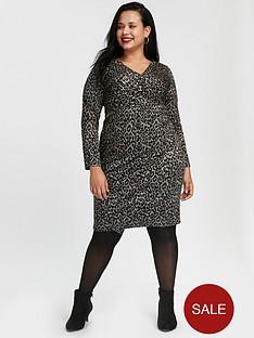 evans-leopard-print-wrap-dress-black