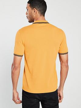 7767fe86 Fred Perry Twin Tipped Polo - Amber/Black | littlewoodsireland.ie