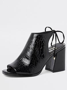 river-island-river-island-croc-detail-block-heeled-sandals--black