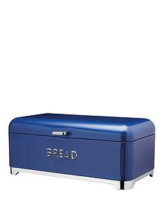 kitchencraft-lovello-bread-bin-in-midnight-navy-blue