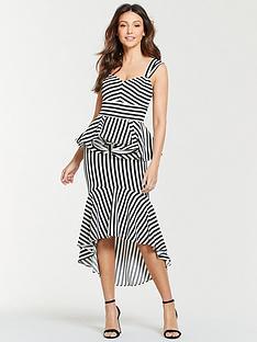 michelle-keegan-stripe-ruffle-front-midi-dress-mono-stripe
