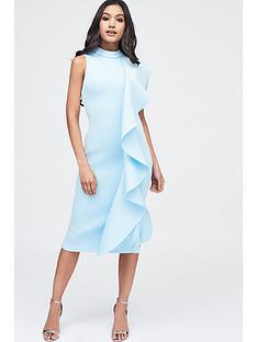 lavish-alice-scuba-frilled-midi-dress-dusty-blue