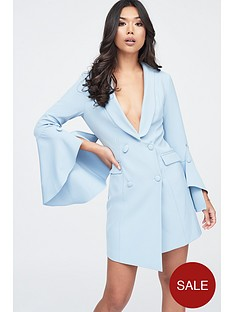 lavish-alice-bell-ruffle-sleeve-blazer-dress-cornflower-blue