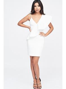 lavish-alice-exaggerated-one-shoulder-frill-scuba-mini-dress-white