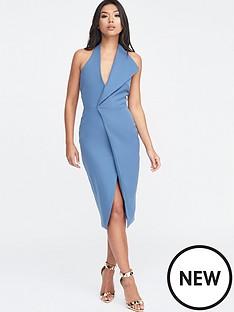 lavish-alice-lavish-alice-halter-neck-wrap-front-midi-dress