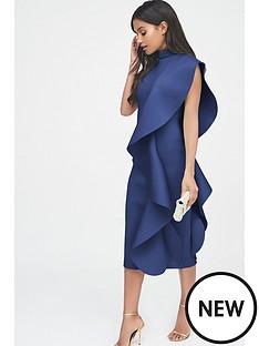 lavish-alice-scuba-frilled-midi-dress