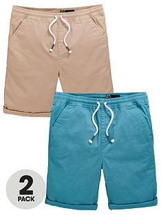 v-by-very-boys-2-pack-woven-shorts-blue