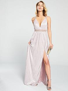 forever-unique-elle-waist-detail-maxi-dress-nude