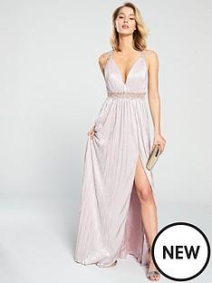 forever-unique-elle-waist-detail-maxi-dress-nude