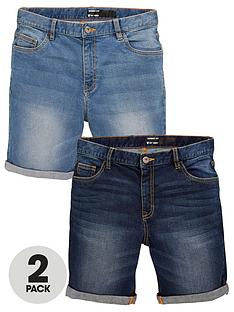 v-by-very-boys-2-pack-5-pocket-denim-shorts-blue