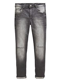 v-by-very-boys-5-pocket-rip-knee-distressed-wash-jeans-grey