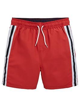 60e10e16c480a V by Very Boys Side Stripe Tape Swim Shorts - Red ...