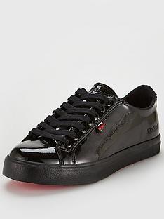 kickers-tovni-lacernbsppatent-flat-plimsoll-shoes-black