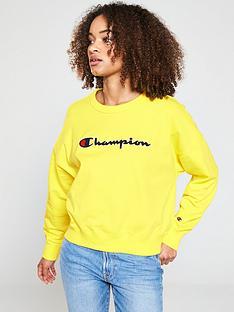champion-crewnbspneck-sweatshirt-yellownbsp