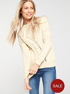 v-by-very-cable-and-mesh-thick-knit-jumper-cream