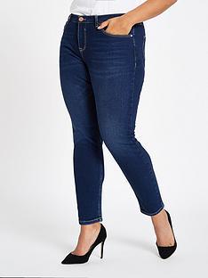 ri-plus-river-island-alannah-skinny-jeans-dark-blue
