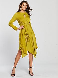 river-island-waist-midi-dress-yellow