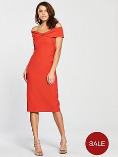 river-island-bardot-bodycon-dress-red