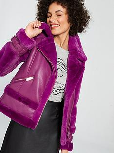 river-island-river-island-faux-fur-aviator-jacket-purple