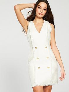 river-island-boucle-dress-ivory