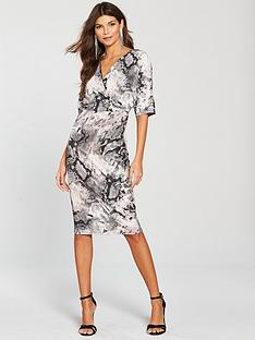 river-island-snake-batwing-dress-grey