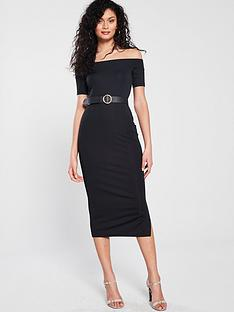 river-island-bardot-dress-black