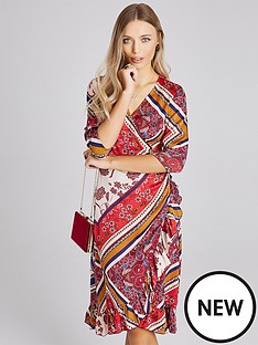 girls-on-film-midi-wrap-dress-scarf-print