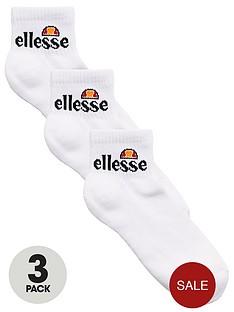 ellesse-sportnbsparrom-ankle-sock-3-pack-whitenbsp