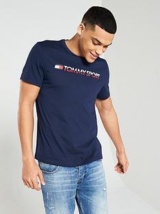 5328ec4b6a0 Tommy Hilfiger Chest Logo T-Shirt - Navy