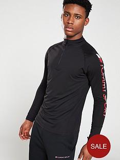 tommy-hilfiger-athleisure-quarternbspzip-long-sleeved-t-shirt-black