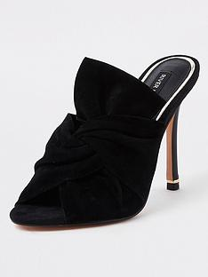 river-island-bow-front-mules-black