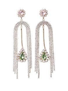 river-island-gem-drop-earrings-gold