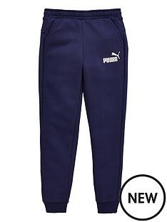 puma-older-boys-slim-fleece-sweat-pants-navy