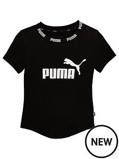 puma-older-girls-amplified-t-shirt-black