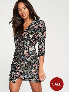 river-island-printed-sequin-ruched-dress