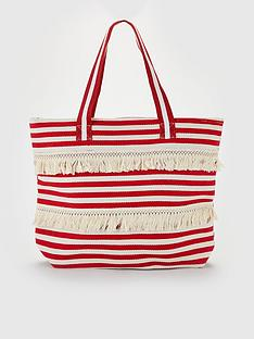 v-by-very-jasmin-stripe-canvas-beach-bag