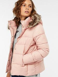 Monsoon Emily Cosmetic Padded Coat - Blush d59d75a75
