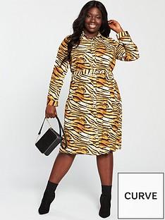v-by-very-curve-printed-shirt-dress-tiger-printnbsp